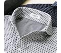 ニットシャツ 動体裁断 小紋シャツ