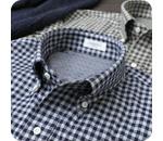 ニットシャツ フランネルギンガムチェックシャツ