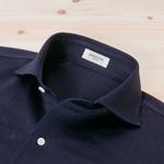 ニットシャツ ヘリンボーン