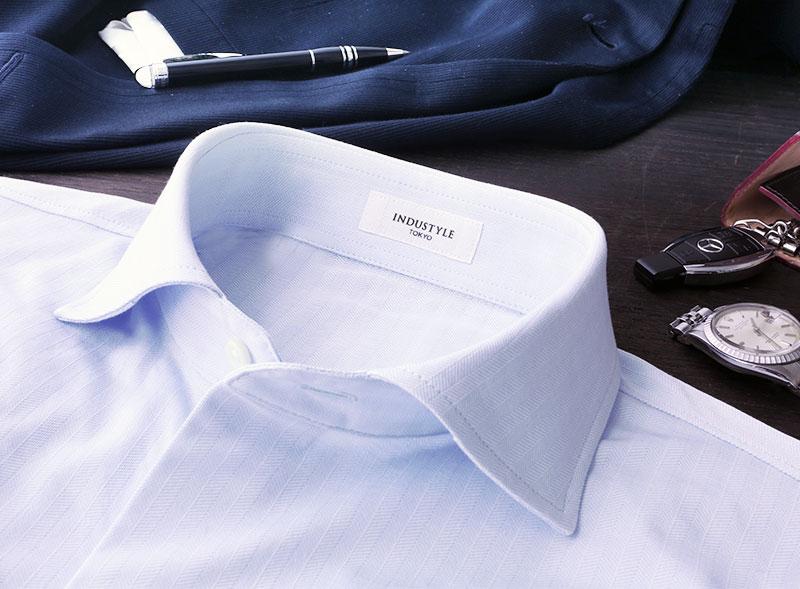 老舗ニット専業メーカーがお仕立てしたヘリンボーンシャツ