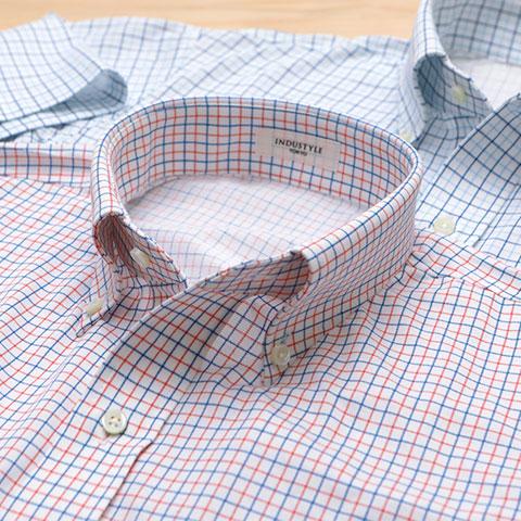 タッターソールチェック半袖シャツ