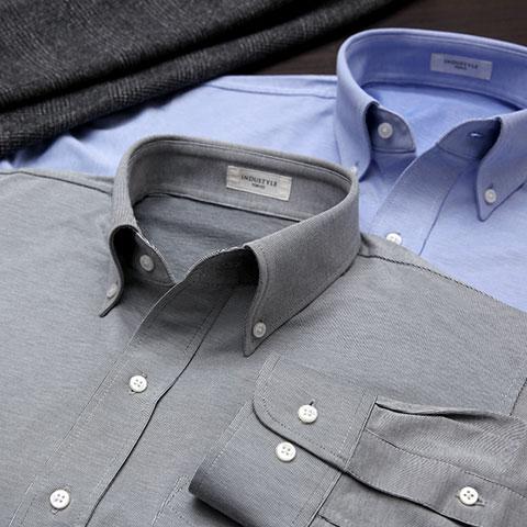 ヘアラインストライプ 長袖シャツ